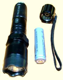 POLICE TORCH STUN GUN 1102 ELECTRIC RECHARGEABLE INDIA